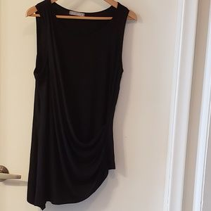 2 for $ 20🪀Black Draped front tank Top, Sz L